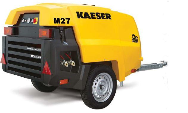 Kaeser Model M27 Portable 92 Cfm Diesel Powered Air Compressor