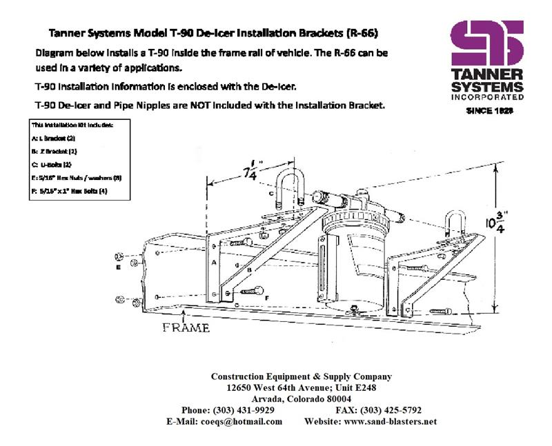 TANNER R-66 WALL BRACKET FOR T-90 TANK ONLY