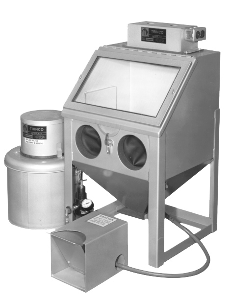 Trinco Model 20 Benchtop Suction Blast Cabinet With Dust Collector